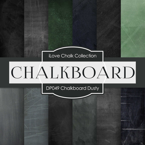 Chalkboard Dusty Digital Paper DP049A - Digital Paper Shop - 1