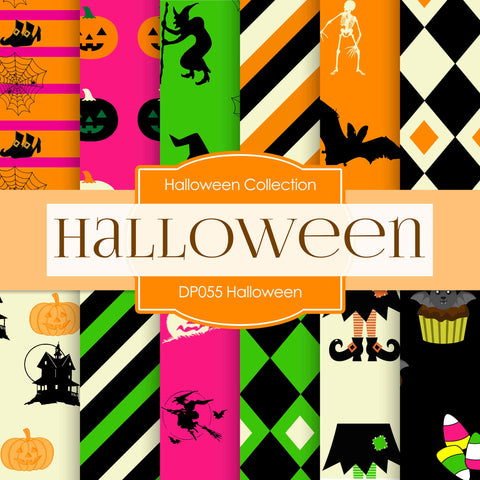 Halloween Digital Paper DP055 - Digital Paper Shop - 1