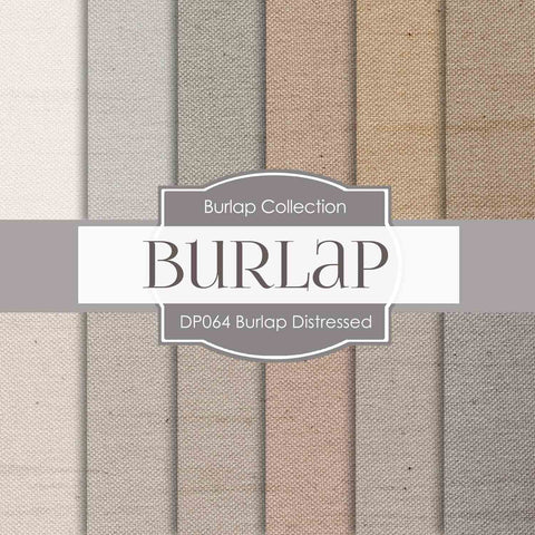 Burlap Distressed Digital Paper DP064 - Digital Paper Shop - 1