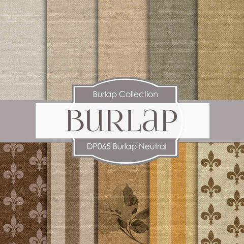 Burlap Neutral Digital Paper DP065 - Digital Paper Shop - 1