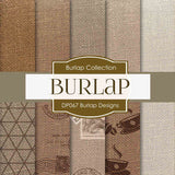 Burlap Designs Digital Paper DP067 - Digital Paper Shop - 1