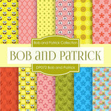 Bob and Patrick Digital Paper DP072 - Digital Paper Shop - 1