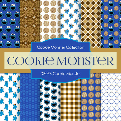 Cookie Monster Digital Paper DP076