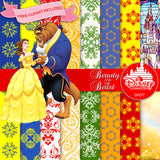 Beauty And The Beast Digital Paper DP077A - Digital Paper Shop - 2
