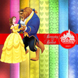 Beauty And The Beast Digital Paper DP077 - Digital Paper Shop - 2