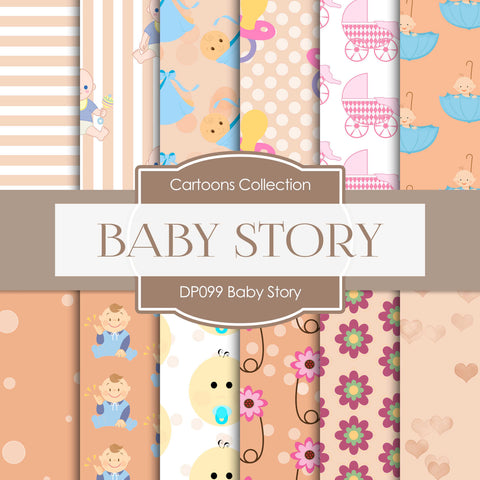 Baby Story Digital Paper DP099 - Digital Paper Shop - 1