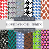 Houndstooth Spring Digital Paper DP1018 - Digital Paper Shop - 1