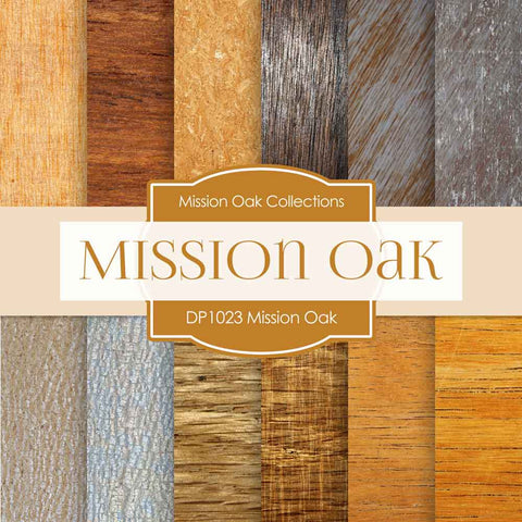 Mission Oak Digital Paper DP1023 - Digital Paper Shop - 1