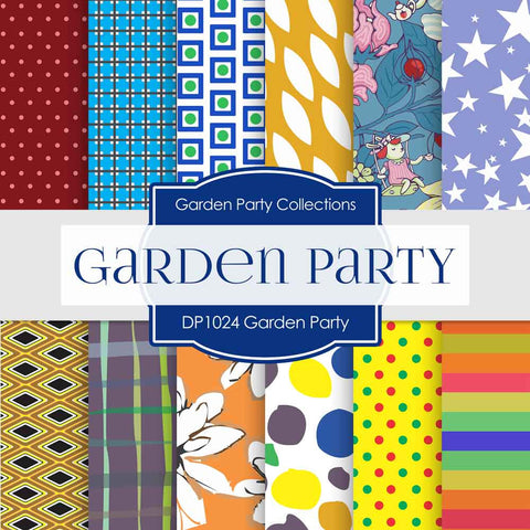 Garden Party Digital Paper DP1024 - Digital Paper Shop - 1