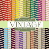 Vintage Chevron Digital Paper DP103 - Digital Paper Shop - 1