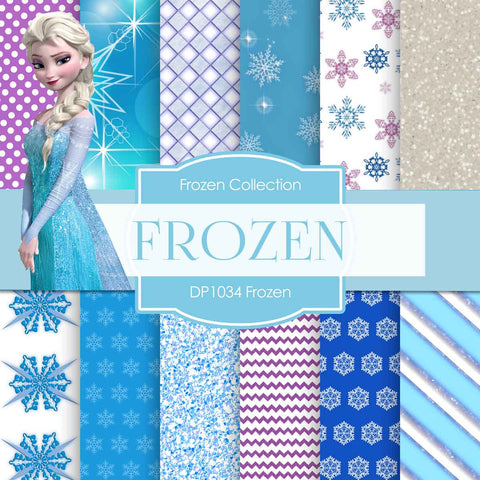Frozen Digital Paper DP1034 - Digital Paper Shop - 1