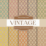 Vintage Quatrefoil Bright Colors Digital Paper DP104 - Digital Paper Shop - 1
