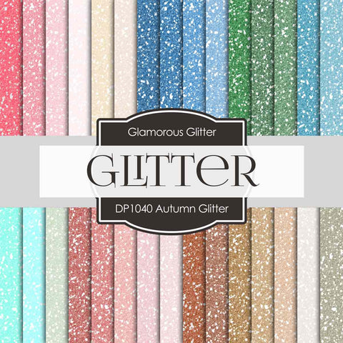 Autumn Glitter Digital Paper DP1040 - Digital Paper Shop - 1