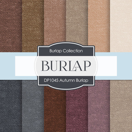 Autumn Burlap Digital Paper DP1045 - Digital Paper Shop - 1