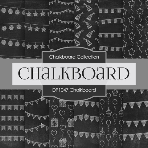 Chalkboard Digital Paper DP1047 - Digital Paper Shop - 1