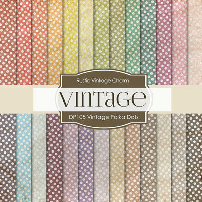 Vintage Polkadots Colors Digital Paper DP105 - Digital Paper Shop - 1