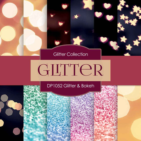 Glitter Bokeh Digital Paper DP1052 - Digital Paper Shop