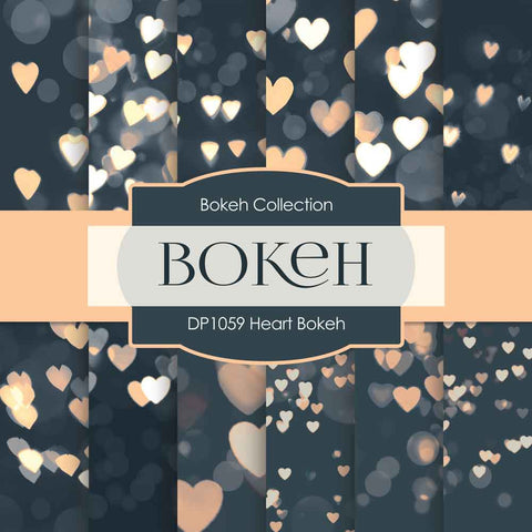 Heart Bokeh Digital Paper DP1059 - Digital Paper Shop - 1