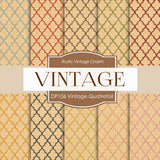 Vintage Quatrefoil Colors Digital Paper DP106 - Digital Paper Shop - 1