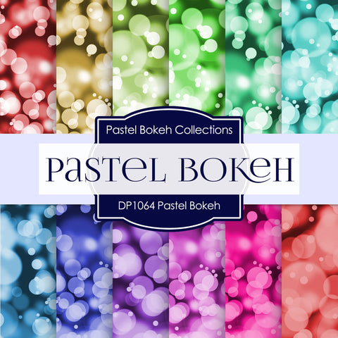 Pastel Bokeh Digital Paper DP1061 - Digital Paper Shop - 1