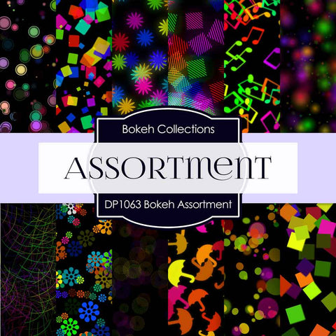 Bokeh Assortment Digital Paper DP1063 - Digital Paper Shop - 1