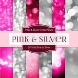 Pink & Silver Party Digital Paper DP1065 - Digital Paper Shop - 1