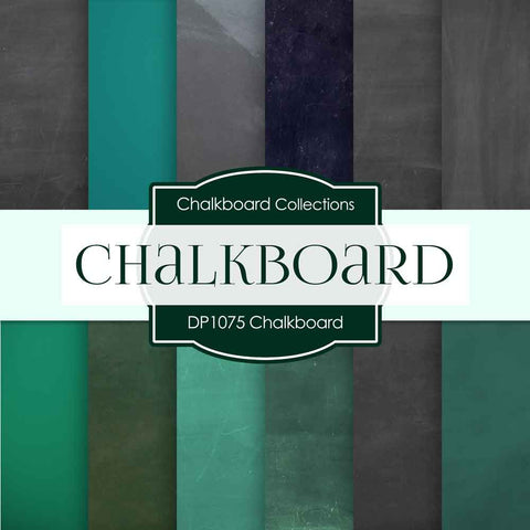 Chalkboard Digital Paper DP1075 - Digital Paper Shop - 1