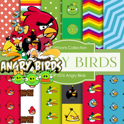 Angry Birds Digital Paper DP1076 - Digital Paper Shop - 1