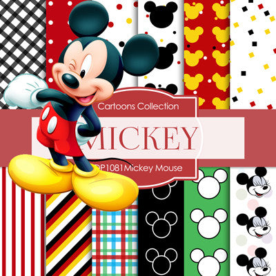 Mickey Mouse Digital Paper DP1081 - Digital Paper Shop - 1