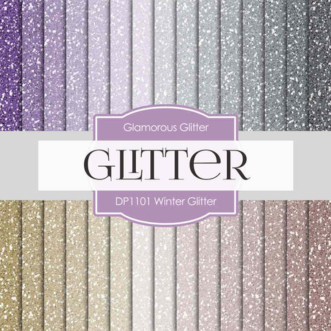 Winter Glitter Digital Paper DP1111 - Digital Paper Shop - 1
