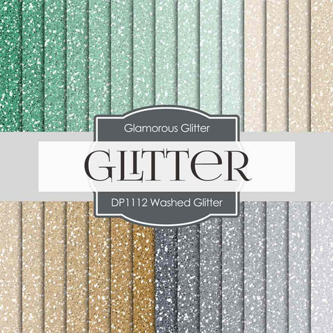 Washed Glitter Digital Paper DP1112 - Digital Paper Shop - 1