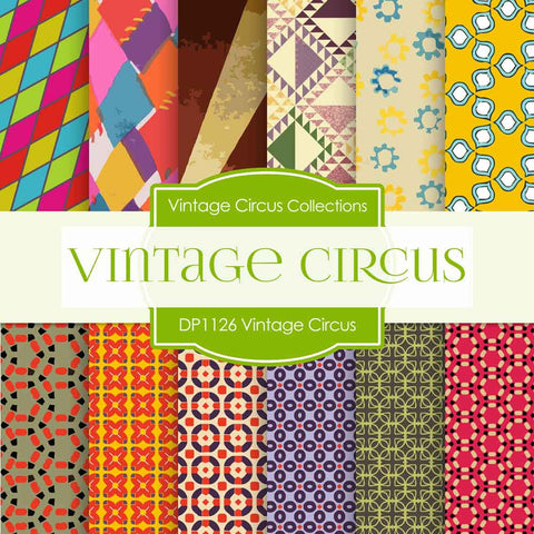 Vintage Circus Digital Paper DP1126 - Digital Paper Shop - 1