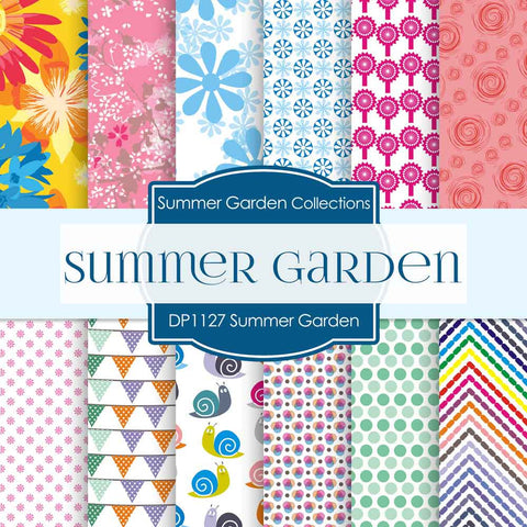 Summer Garden Digital Paper DP1127 - Digital Paper Shop - 1