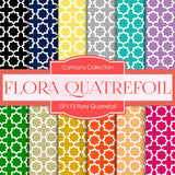 Flora Quatrefoil Digital Paper DP113 - Digital Paper Shop - 1