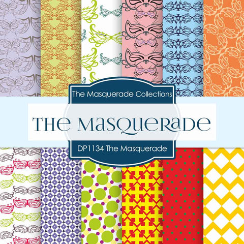 The Masquerade Digital Paper DP1134 - Digital Paper Shop - 1