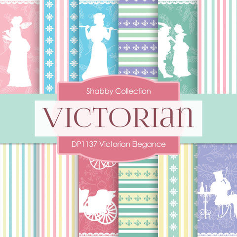 Victorian Elegance Digital Paper DP1137 - Digital Paper Shop - 1