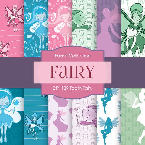 Tooth Fairy Digital Paper DP1139 - Digital Paper Shop - 1