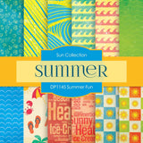 Summer Fun Digital Paper DP1145 - Digital Paper Shop - 1