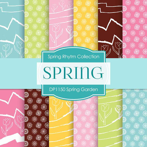 Spring Garden Digital Paper DP1150 - Digital Paper Shop - 1