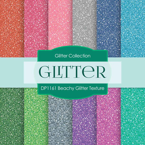 Beachy Glitter Texture Digital Paper DP1161 - Digital Paper Shop - 1