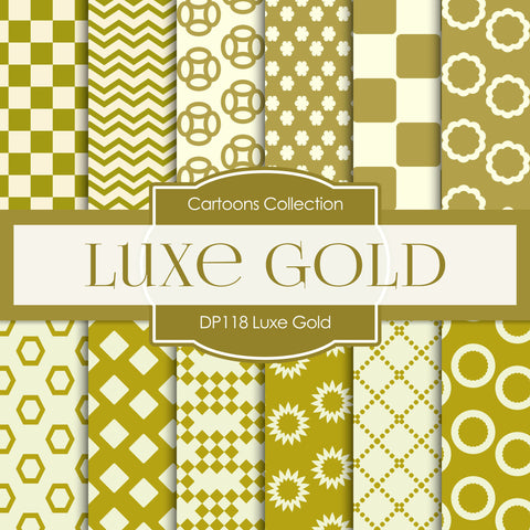 Luxe Gold Digital Paper DP118 - Digital Paper Shop - 1