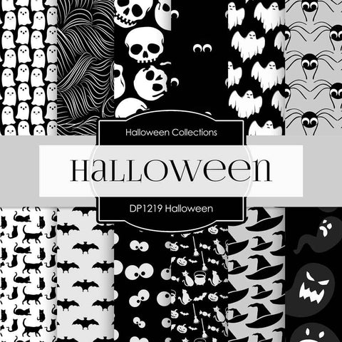 Halloween Digital Paper DP1219 - Digital Paper Shop - 1