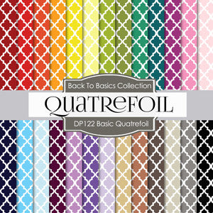 Basic Quatrefoil Digital Paper DP122 - Digital Paper Shop - 1