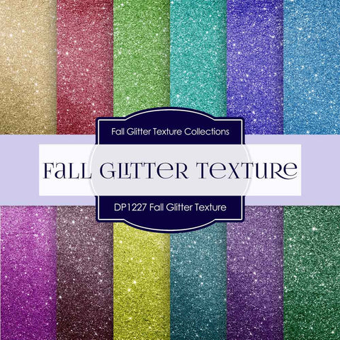 Fall Glitter Texture Digital Paper DP1227 - Digital Paper Shop - 1