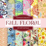 Fall Floral Digital Paper DP1229 - Digital Paper Shop - 1