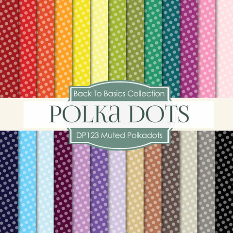 Muted Polkadots Digital Paper DP123 - Digital Paper Shop - 1