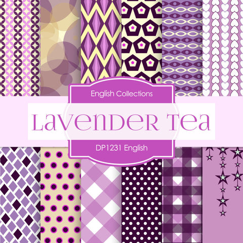 English Lavender Tea Digital Paper DP1231 - Digital Paper Shop - 1