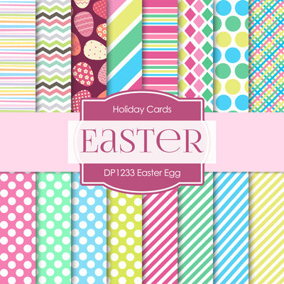 Easter Egg Digital Paper DP1233 - Digital Paper Shop - 1