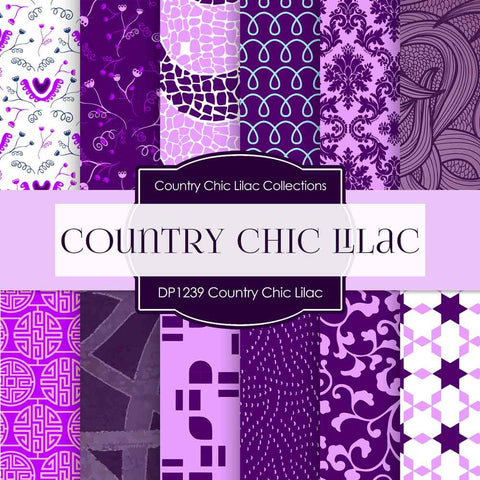 Country Chick Lilac Digital Paper DP1239 - Digital Paper Shop - 1