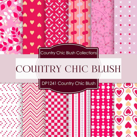 Country Chick Blush Digital Paper DP1241 - Digital Paper Shop